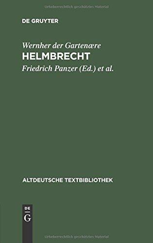 Altdeutsche Textbibliothek, Nr.11, Helmbrecht