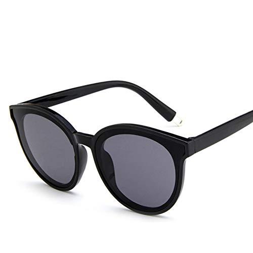 Taiyangcheng Mode mädchen klar Auge Sonnenbrille Spiegel Oversize männer Frauen runde Sonnenbrille,Schwarzgrau