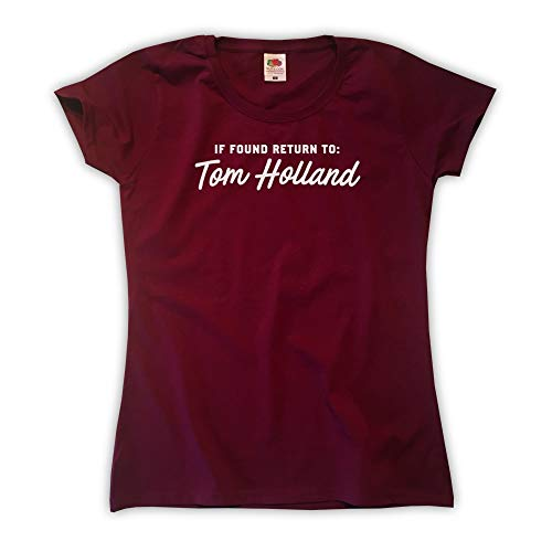 Outsider. Damen If Found Return to Tom Holland T-Shirt - Burgund - Medium