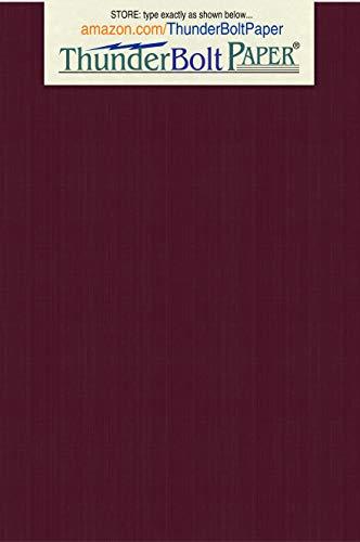 100Dark Burgund Leinen Papier 80# Abdeckung Blatt-10,2x 15,2cm (10,2x 15,2cm) photo card frame Größe-80Lb/Pfund Karte Gewicht-Feine Leinen Texturierte Finish-Deep Dye Qualität Karton