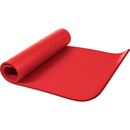 GORILLA SPORTS Yogamatte 190 x 100 x 1,5 cm für Fitness, Pilates, Gymnastik – Sportmatte in Rot, Rutschfest und phthalatfrei