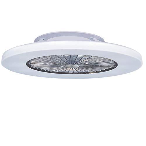Moderne Silber Deckenventilator (Lüfterleuchte Schlafzimmerlampe Neue LED Lüfterleuchte Modernes Minimalistisches Schlafzimmer Deckenventilator Licht Mit Deckenventilator Deckenleuchte Silber 72 Watt)