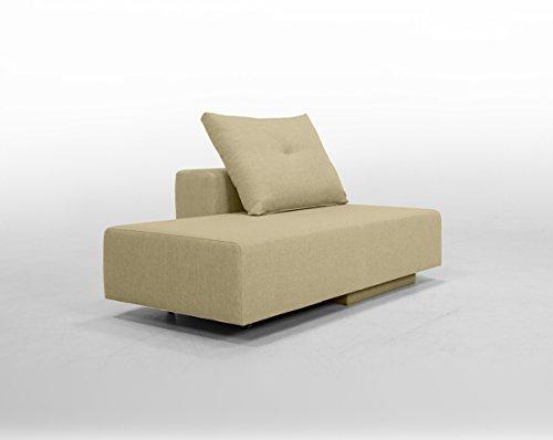 Minisofa BonBon2 - kleines Sofa Recamiere Schlafsofa - pflegeleichter weicher Mikrofaserstoff, Cappucino Beige - Kissen im Lieferumfang enthalten (Cappuccino)