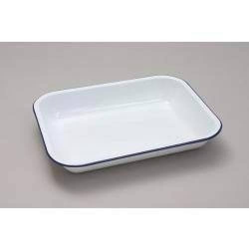 Falcon Enamel Bakepan - Traditional White 34cm x 28cm x 5D (471119)