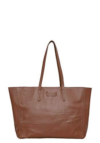 Liebeskind Berlin Damen Essential Shopper Large Schultertasche, Braun (Bourbon), 14x30x36 cm