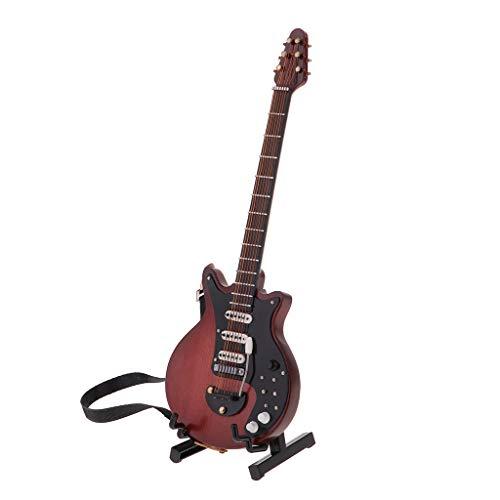 Unbekannt Hölzerne Mini Gitarre Musikinstrument Für 1: 6 Puppenhaus Zubehör Braun - # 10 (10 1 Doll Scale)