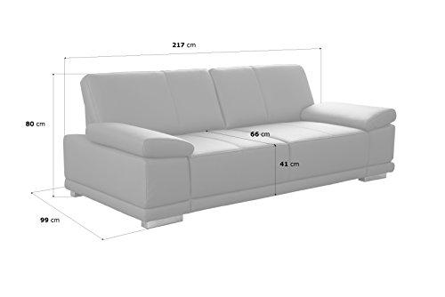3-Sitzer Sofa Corianne Echtledercouch-180921151205