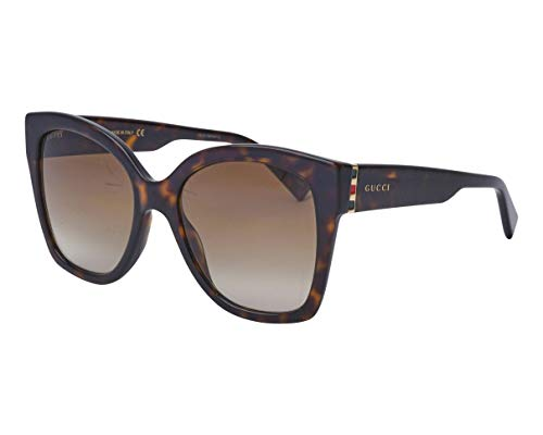 Gucci GG0459S 002 Havana GG0459S Square Sunglasses Lens Category 2 Size 54mm