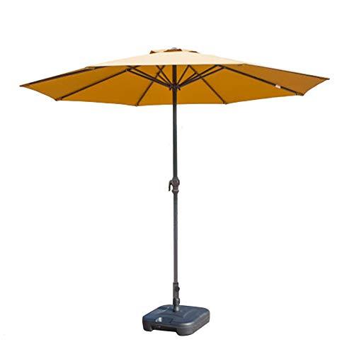 Preisvergleich Produktbild Sonnenschirme Gartenschirm 9 'Patio Kurbel,  Ideal Für Outdoor-Hof,  Beach Commercial Event Market,  Camping,  Schwimmbad Seite (Farbe : Khaki)