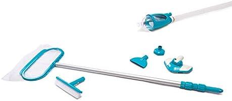 Intex zwembadreinigingsset met schep, stofzuiger en telescoopstang