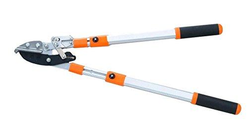 Kleeblatt Astschere - Amboss Ratschen-Schere Teleskop-Griffe stufenlos von 69cm bis 99 cm. Äste bis 45cm Durchmesser