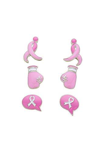 rosemarie-collections-da-donna-fiocco-rosa-orecchini-set-di-3-lotta-per-una-cura