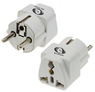 ELRAN® Reisestecker / travelplug / Adapter plug universal auf DE (150 Länder auf DE Schuko) Reiseadapter mit DE Stecker