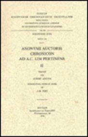 Anonymi Auctoris Chronincon Ad A.c. 1234 Pertinens, II. Syr. 154. PDF Books