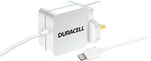 Preisvergleich Produktbild Duracell 1 Meter 2, 4 A MFI Lightning Ladegerät für iPhone 5 / 5S / 5C / SE / 6 / 6 Plus / 6S / 6S Plus und iPad / iPad Mini - Weiß