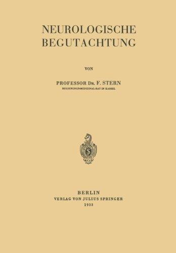 Neurologische Begutachtung (German Edition) by F. Stern (2013-10-04)