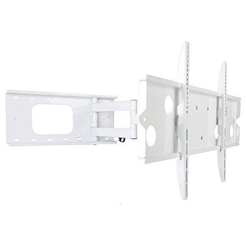 NEG Profi Universal TV-Wandhalterung Extender 7515 (weiß) Schwenk-, neig- und ausziehbar, Full Motion (bis max. VESA 600x400 und 80kg)