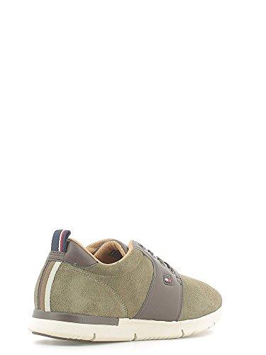 TOMMY HILFIGER Tobias 3B sneakers lacci PELLE MIDNIGHT FM56822130 Fango