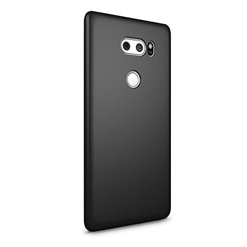 SLEO Hülle für LG V30 Hülle Harte PC SchutzHülle [Anti-Fingerabdrücke] Stilvolle [Soft-Touch] Rückseite Tasche für Hülle für LG V30 - Schwarz