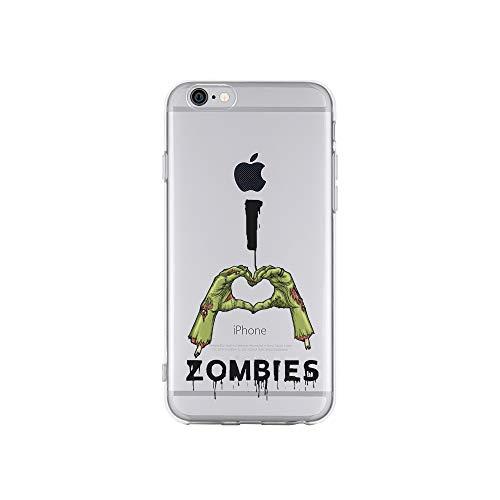 licaso Apple iPhone 6 Handyhülle Smartphone Apple Case aus TPU mit I Love Zombies Print Motiv Slim Design Transparent Cover Schutz Hülle Protector Soft Aufdruck Lustig Funny Druck (Happy Halloween Transparentes Logo)