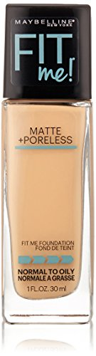Maybelline New York Fit ME Matte with Poreless Foundation, 125 Nude Beige, 30 g