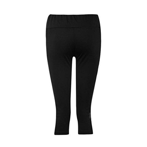 TWIFER Dünne Leggings Patchwork Mesh Yoga Damen Workout Fitness Sport Capri Hosen (Damen-seamless-capri)