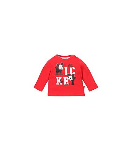 Disney Mickey Baby-Jungen T-Shirt 4731 Rot Rouge, 3-6 (Herstellergröße: 6 Monate)