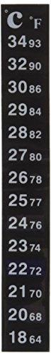 Sourcingmap Aquarium Adhesive Digital Thermometer Temperature Sticker, Black 1