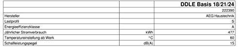 AEG elektronischer Durchlauferhitzer DDLE Basis, umschaltbar 18/21/24 kW - 3