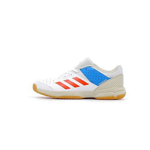 adidas Unisex-Kinder Court Stabil Handballschuhe, Weiß (Ftwbla/Rojsol/Azubri 000), 36 2/3 EU