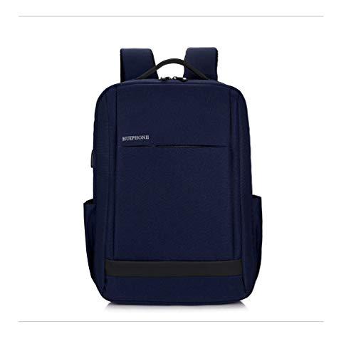 AnSuu Business Computer Pack USB Smart Charging Borsa A Tracolla Da Uomo, Da Viaggio, Per Il Tempo Libero (colore : Blu)