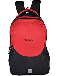 Dunnock Life Gear Laptop Backpack, 25 Litre (Black/Red)