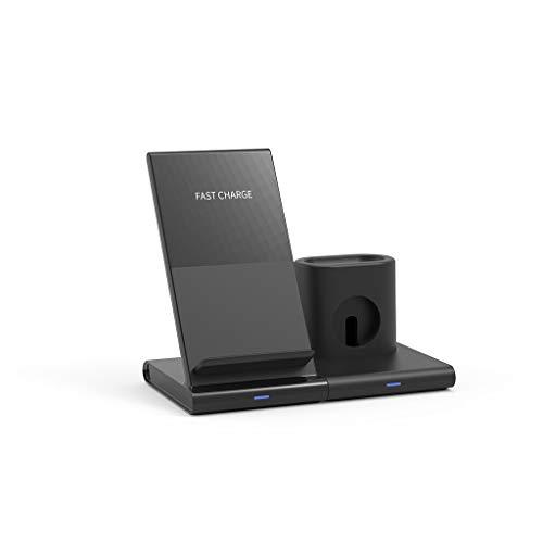Gaddrt Handy-Induktionsladegeräte Kabelloser Ladeständer 3 in 1 Qi Wireless Charger Holder für Apple Airpod