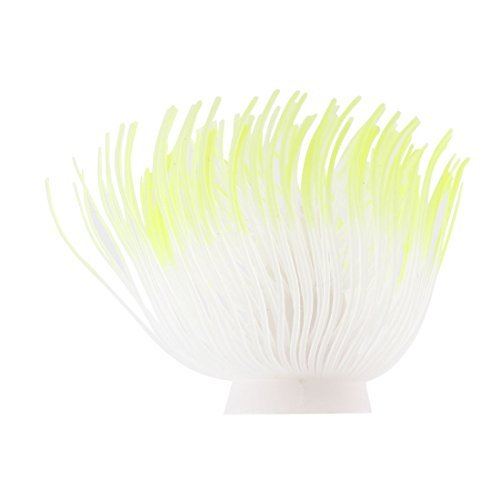DealMux Silicone Fish Tank Aquarium Artificial Christmas Tree Shaped Coral Ornament White (Christmas White Ornamente)