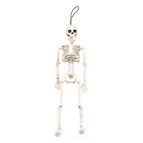 JNTM Halloween-Skelett - Ganzkörper-Halloween-Skelett Mit Beweglichen/Beweglichen Gelenken Zubehör Für Das Beste Halloween-Dekorationsskelett Geeignet Für Party- Und Baratmosphären-Requisiten (Friedhof Zombie Kostüm Kit)