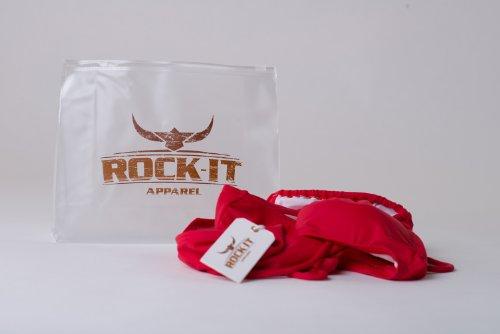 Rock-It Triangel Bikini Cocos inkl. Gratis Zipptasche, in Schwarz, Braun, Weiss, Rot Rot