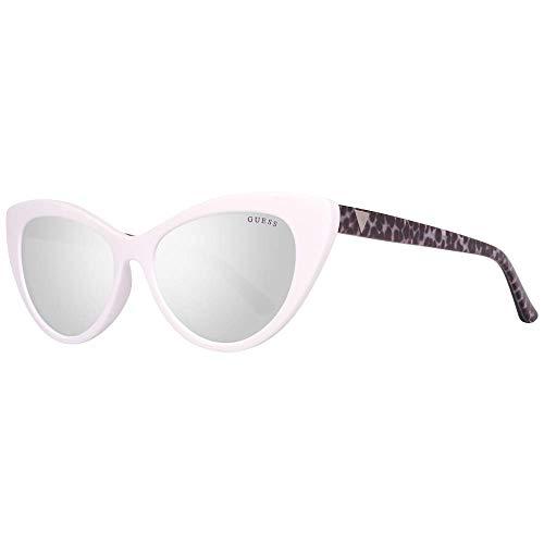 Guess Unisex-Erwachsene GU7565 21C 53 Sonnenbrille, Weiß (Bianco/Fumo Specchiato),