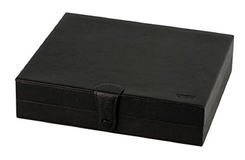 CREDO Reisehumidor Leder schwarz ca 10 Cigarren Humidifer Zedernholz Stoffbeutel