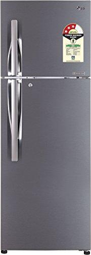LG 335 L 3 Star Frost Free Double Door Refrigerator(GL-T372JPZU.DPZZEBN, Shiny Steel, Inverter Compressor)