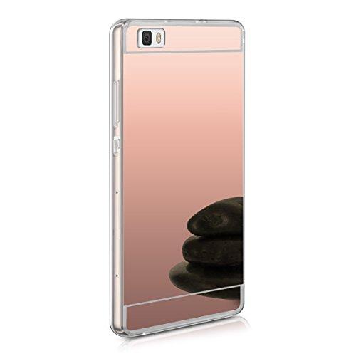 kwmobile Spiegel Hülle für Huawei P8 Lite TPU Silikon Case Handy Cover, Schutzhülle in Rosegold spiegelnd