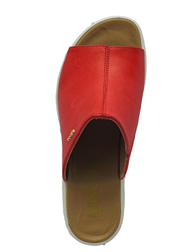 Sandali Igi&Co per donna in pelle rossa zeppa alta Vegetal Kiss