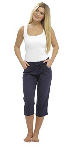 Lora Dora mujer lino Pantalones pirata Capri/pantalones
