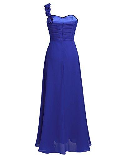 iEFiEL Kleider Damen festliches Kleid langes Cocktailkleid Partykleid elegant Abendkleid Faltenrock Kleid Gr.32-46 Blau