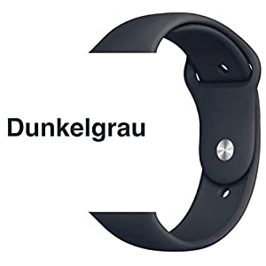 Armband für Apple Watch in Dunkelgrau 42/44mm passend für Apple Watch 1 2 3 4 5