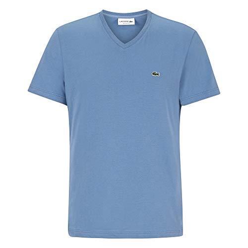 Lacoste Herren T-Shirt V-Ausschnitt TH2036,Männer Basic Tshirt,Tee,Regular Fit,King(PQ8),Medium (4) (Lacoste Männer, T-shirt Für)