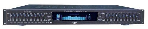 Pyle PPEQ100 - Ecualizador gráfico para espectro estéreo (entrada doble, 10 bandas/4 fuentes, montado en rack de 48.3 cm/19')