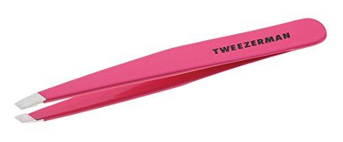 Tweezerman Pince à épiler biseautée en acier inoxydable, rose