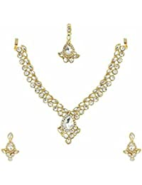 Unnati Traditional Kundan & Pearl Choker Necklace Set For Women And Girls