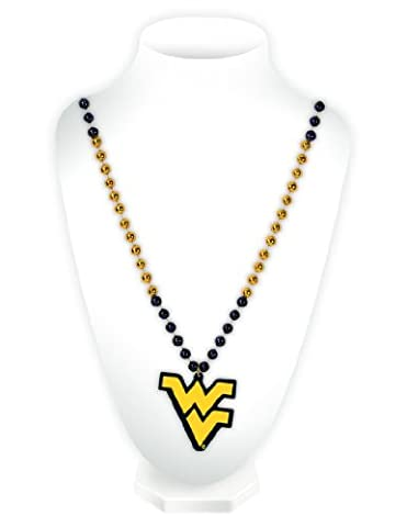 NCAA West Virginia Mountaineers Beads with Logo Medallion