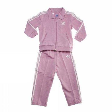 adidas Chándal infantil, tamaño 104 UK, color shift rosa/running blanco
